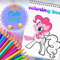 Cute Pony Coloring Book
