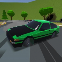 Low poly car racing