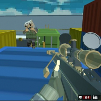 Shooting Blocky Combat Swat GunGame Survival